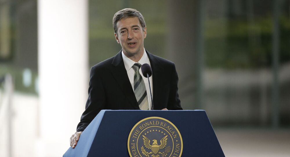 Ron Reagan, son of late former President Ronald Reagan and Nancy Reagan speaks during the funeral service for the former First Lady at the Ronald Reagan Presidential Library Friday, March 11, 2016, in Simi Valley, calif.
