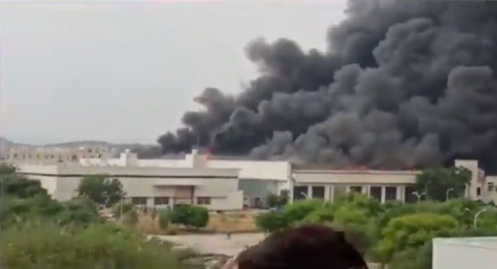 Massive fire breaks out at Eicher motor company in Jaipur