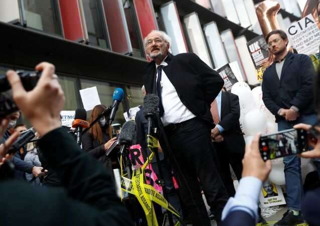 WikiLeaks founder Julian Assange's father John Shipton speaks outside the Old Bailey, the Central Criminal Court on the final day of a hearing to decide whether Assange should be extradited to the United States, in London, Britain October 1, 2020.