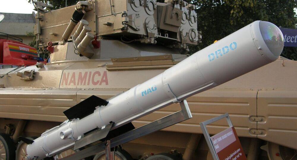 Nag missile and the Nag missile Carrier Vehicle (NAMICA)