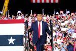 U.S. President Donald Trump holds a campaign rally in Gastonia, North Carolina, U.S., October 21, 2020