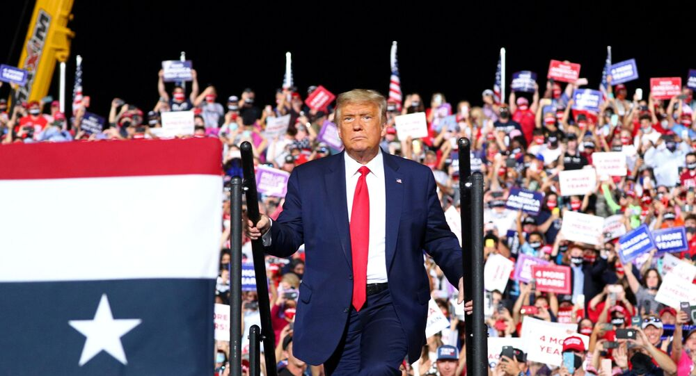 U.S. President Donald Trump holds a campaign rally in Gastonia, North Carolina, U.S., October 21, 2020