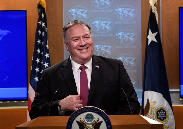 U.S. Secretary of State Mike Pompeo speaks at a news conference at the State Department in Washington, DC, U.S. October 21, 2020