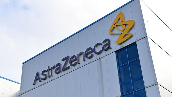 File photo taken on 21 July 2020 of the offices of British-Swedish multinational pharmaceutical and biopharmaceutical company AstraZeneca PLC in Macclesfield, Cheshire, UK. - Sputnik International
