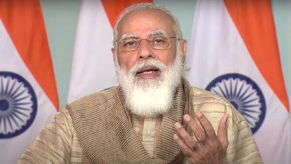 PM Modi inaugurates Durga Puja Pandal in West Bengal - Sputnik International