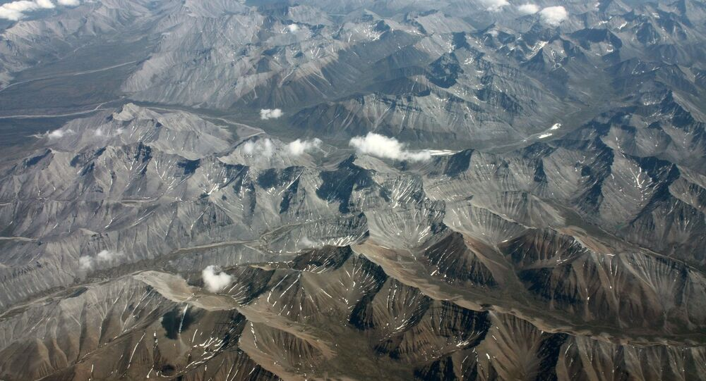 The Mackenzie Mountains in Yukon territory