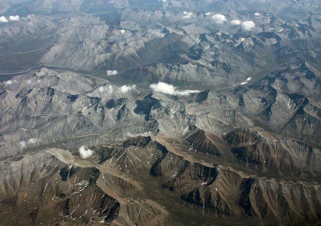 The Mackenzie Mountains in Yukon territory