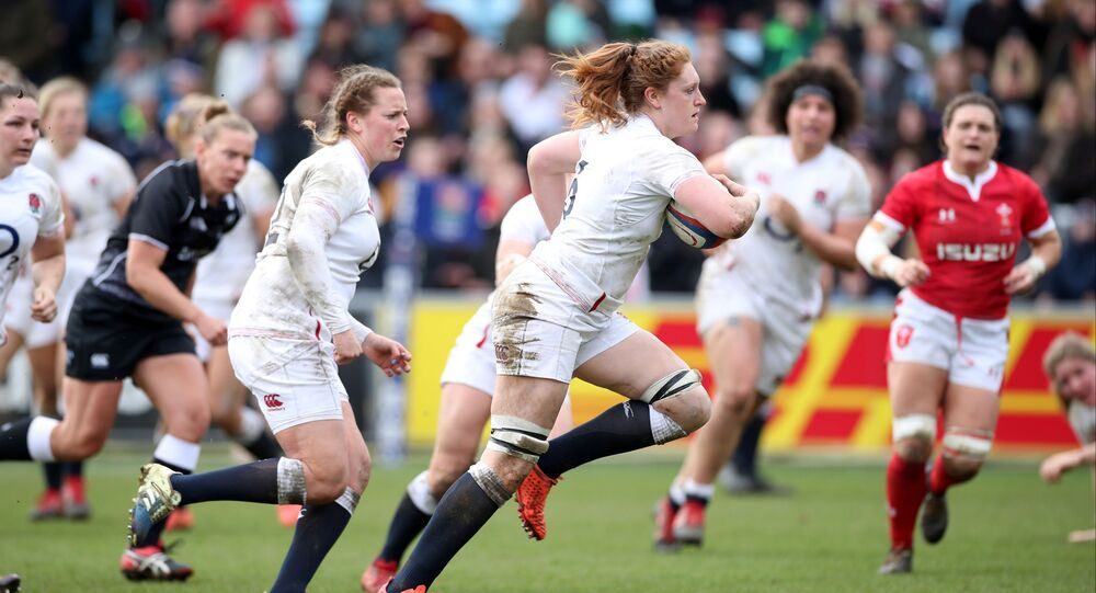 England's Harriet Millar Miles goes through to score their fifth try. Rugby Union - Women's Six Nations - England v Wales - Twickenham Stoop, London, Britain - March 7, 2020.