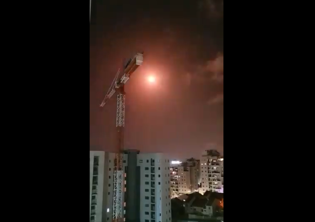 Video of the Iron Dome interceptions over Ashkelon a short while ago