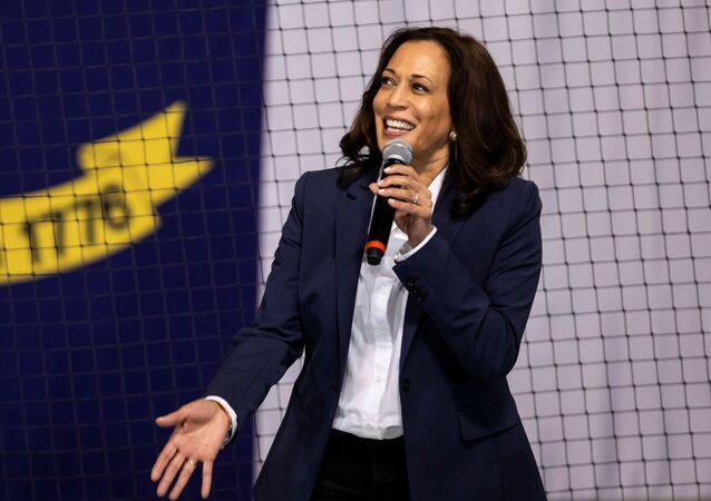 U.S. Democratic vice presidential nominee Senator Kamala Harris (D-CA) speaks during an election campaign visit to Charlotte, North Carolina, U.S. October 21, 2020