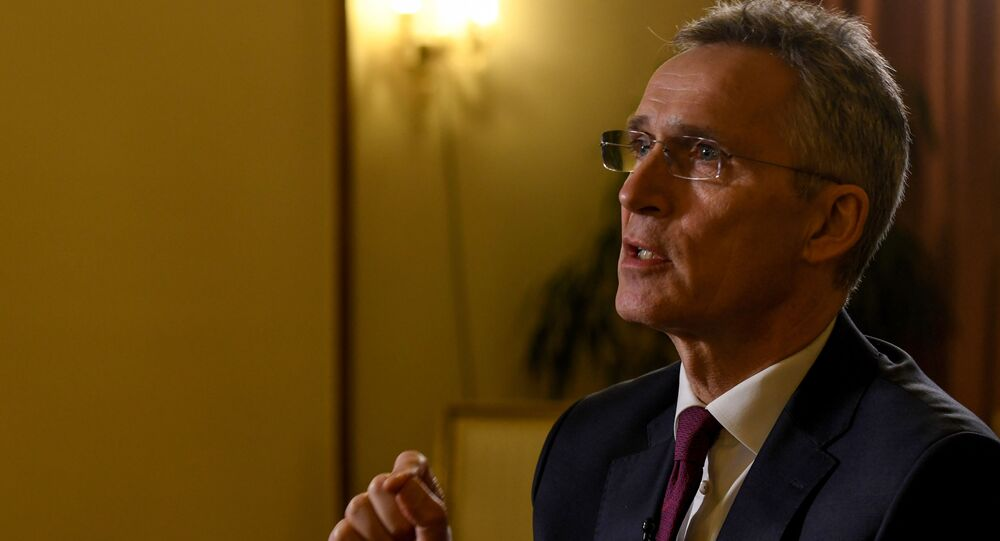 NATO Secretary-General Jens Stoltenberg talks during an interview with AFP in Zagreb, Croatia, on 4 March 2020