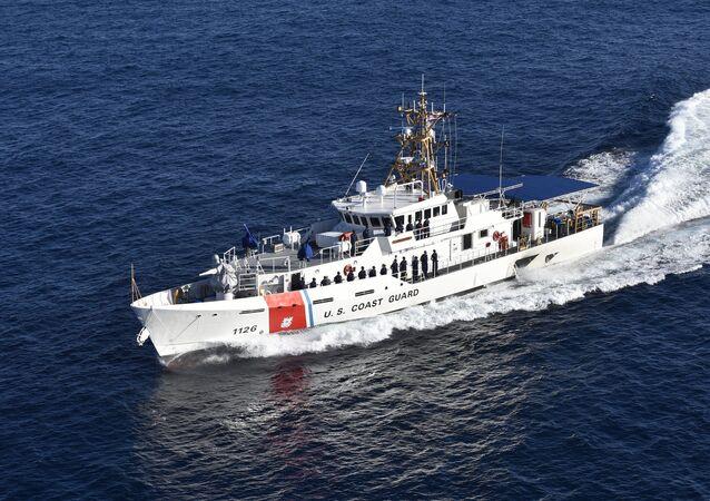 Coast Guard Cutter Joseph Gerczak conducts sea trials off the coast of Key West