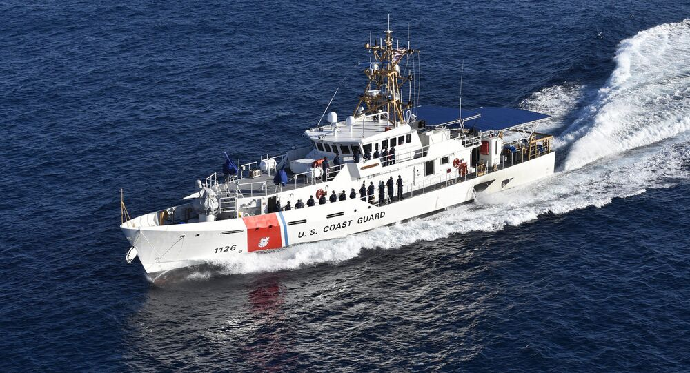 Coast Guard Cutter Joseph Gerczak conducts sea trials off the coast of Key West