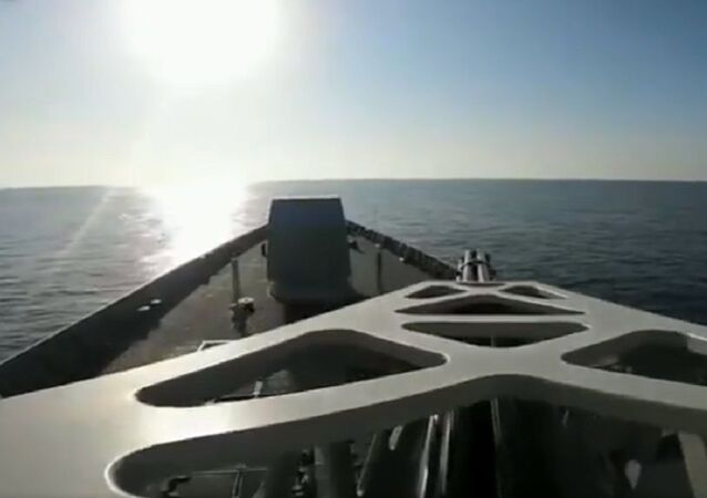 Watch the Chinese navy's 36th escort fleet conduct a live fire drill in Gulf of Aden