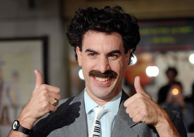 Actor Sacha Baron Cohen, who played the character Borat, arrives for the US premiere of Borat: Cultural Learnings of America for Make Benefit the Glorious Nation of Kazakhstan at the  Grauman's Chinese Theatre in Hollywood, 23 October 2006