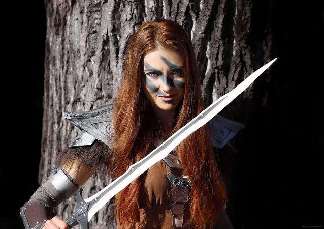 Female warrior cosplay