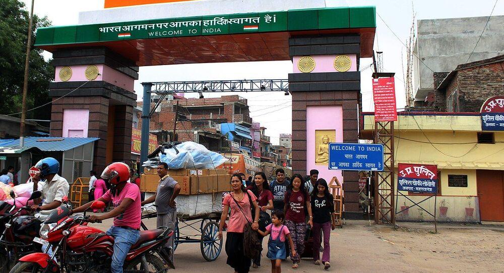 Nepal India Border gate Sonauli