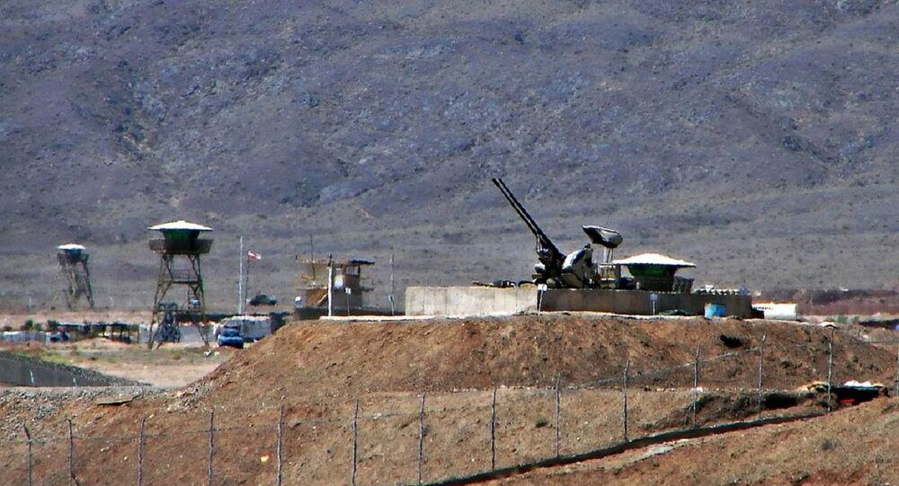Anti-aircraft guns guarding Natanz Nuclear Facility, Iran