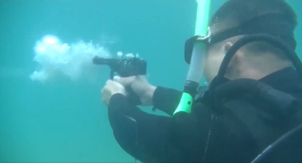 Adrenaline rush: watch Chinese special forces shoot in water to enhance their underwater combat ability