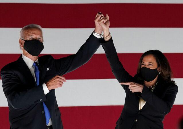 Democratic presidential candidate and former Vice President Joe Biden and U.S. Senator and Democratic candidate for Vice President Kamala Harris