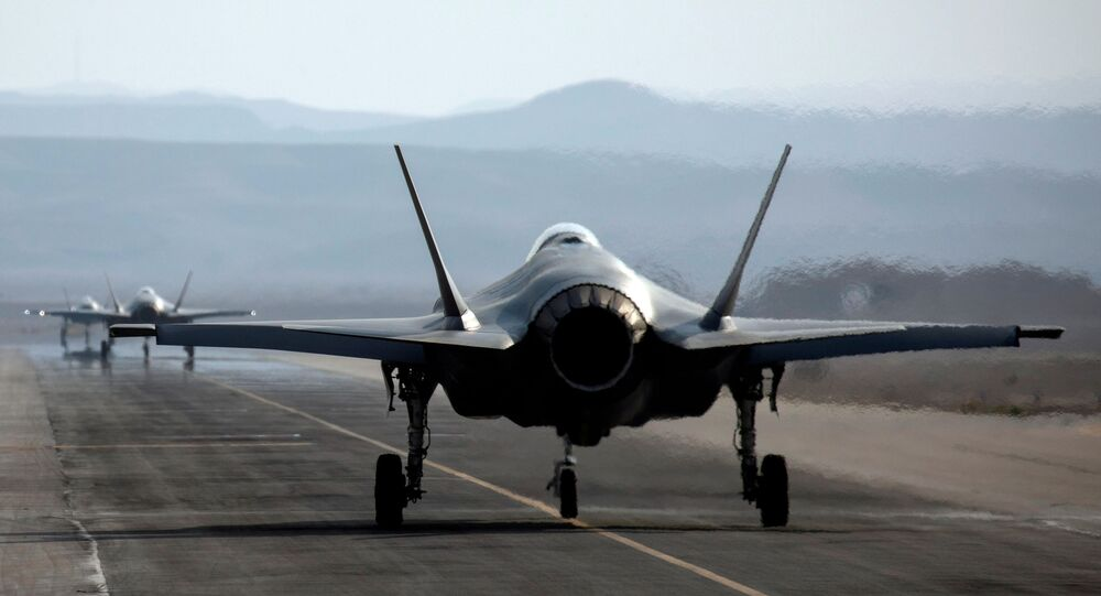 An Israeli F35 aircraft is seen on the runway during Blue Flag, an aerial exercise hosted by Israel with the participation of foreign air force crews, at Ovda military airbase, southern Israel November 11, 2019.