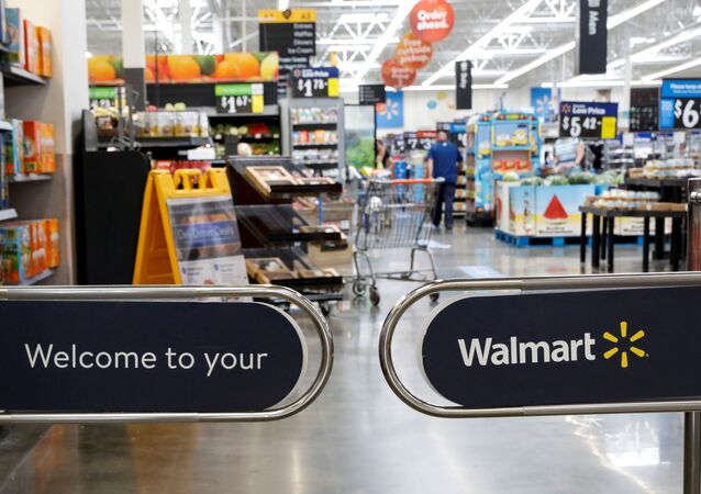 The entrance to a Walmart store is seen in Bradford, Pennsylvania, U.S. July 20, 2020.