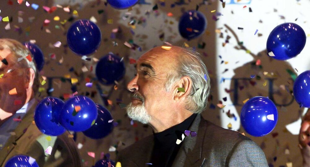 FILE PHOTO: Scottish actor Sir Sean Connery opens the new Byre Theatre in St Andrews June 5, 2001.