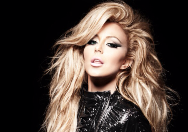 Aubrey O'Day in a leather jacket, 24 January 2013.