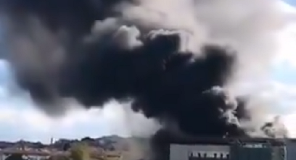 Fire at Istanbul University