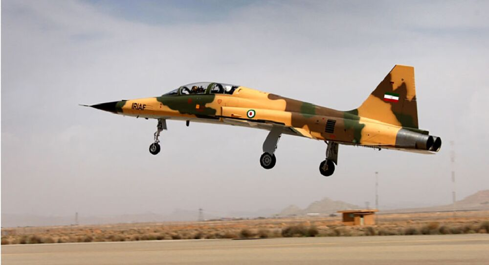 A handout picture released by Iran's Defence Ministry on August 21, 2018, shows the  Kowsar domestic fighter jet, a fourth-generation fighter, with advanced avionics and multi-purpose radar, which the local Tasnim news agency said was 100-percent indigenously made. - Iran unveiled its first domestic fighter jet at a defence show in the capital Tehran today.