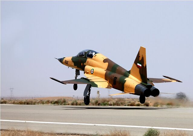 A handout picture released by Iran's Defence Ministry on August 21, 2018, shows the  Kowsar domestic fighter jet, a fourth-generation fighter, with advanced avionics and multi-purpose radar, which the local Tasnim news agency said was 100-percent indigenously made