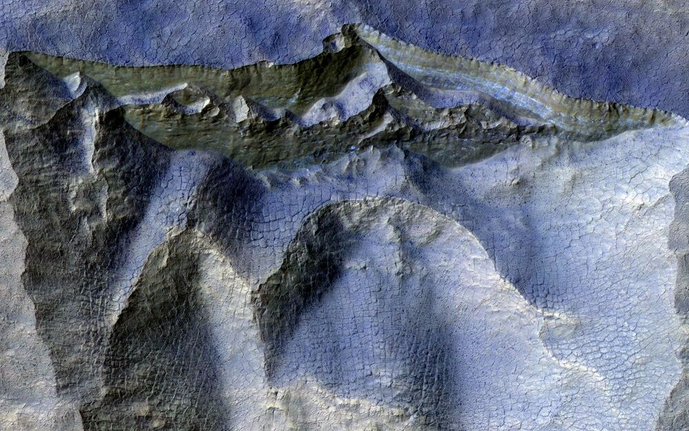 The Martian surface.