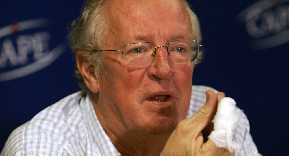 British Middle East journalist, Robert Fisk, at the launch of his latest book in 2005.
