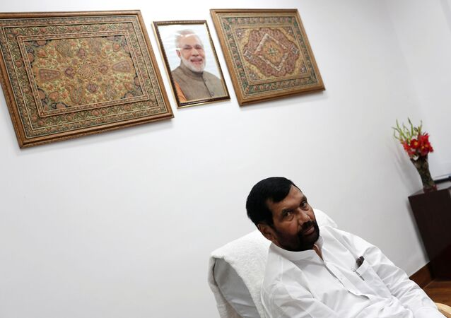 FILE PHOTO: India's Food Minister Ram Vilas Paswan speaks during an interview with Reuters in New Delhi November 12, 2014