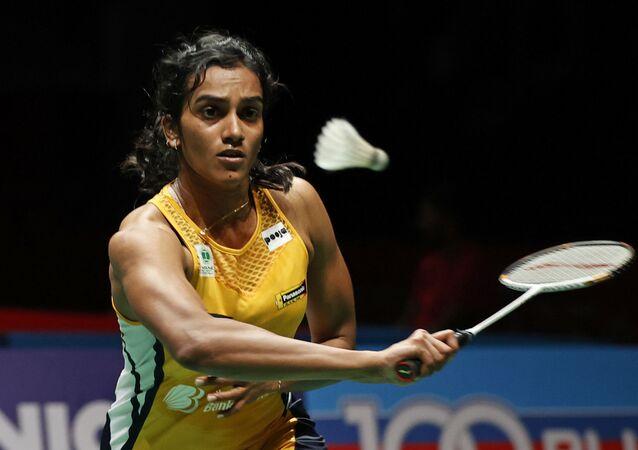India's Pusarla V. Sindhu hits a return shot against Taiwan's Tai Tzu Ying during Malaysian Master 2020 during Women Single Quarter Finals in Kuala Lumpur, Malaysia, Friday, Jan. 10, 2020