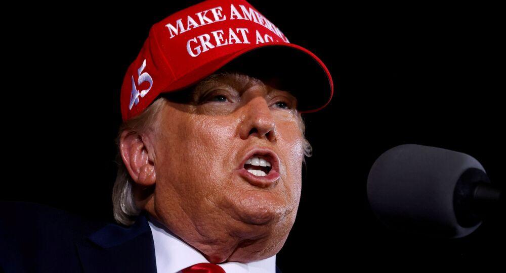 U.S. President Donald Trump speaks during a campaign rally at Miami-Opa Locka Executive Airport in Opa-Locka, Florida, U.S., November 2, 2020. REUTERS/Carlos Barria