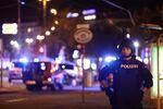 Police blocks a street near Schwedenplatz square after exchanges of gunfire in Vienna, Austria November 2, 2020