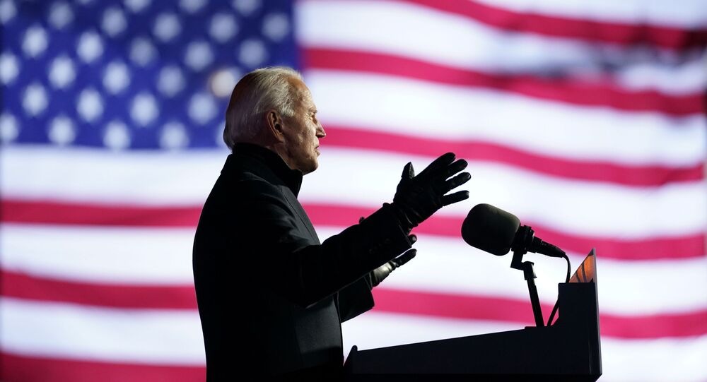 Democratic U.S. presidential nominee and former Vice President Joe Biden speaks during a drive-in campaign rally at Heinz Field in Pittsburgh, Pennsylvania, U.S., November 2, 2020