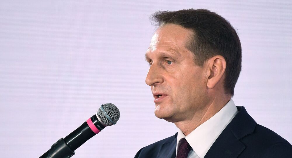 Russian Foreign Intelligence Service (SVR) Director Sergey Naryshkin