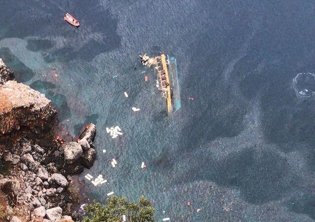 Tourist Boat Capsizes in Turkey