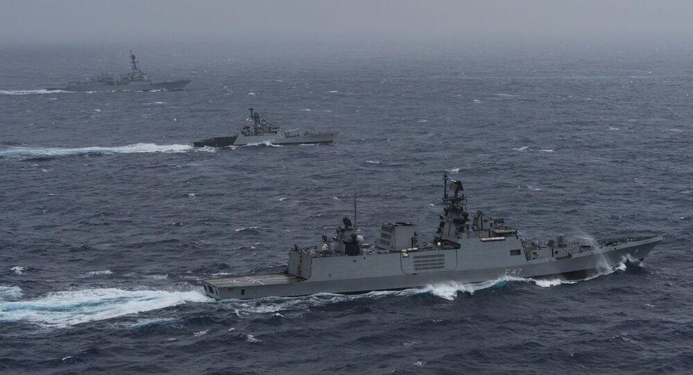 India hosts Japan, Australia, U.S. in naval exercise Malabar 2020