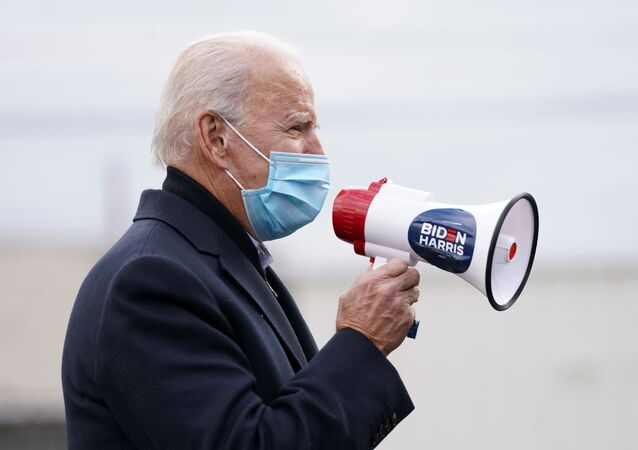 U.S. Democratic presidential candidate Joe Biden speaks during an event on Election Day in Scranton, Pennsylvania, U.S. November 3, 2020