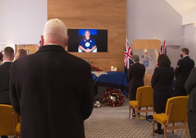 The funeral of Sergeant Matt Ratana, who was shot dead by a suspect in September 2020