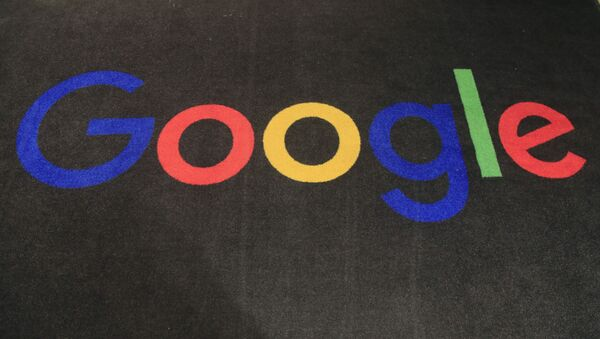 In this Monday, Nov. 18, 2019, file photo, the logo of Google is displayed on a carpet at the entrance hall of Google France in Paris. The Trump administration's legal assault on Google actually feels like a blast from the past. The U.S. Justice Department filed an equally high-profile case against a technology giant in 1998. - Sputnik International