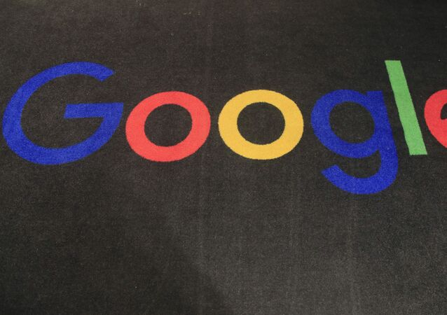 In this Monday, Nov. 18, 2019, file photo, the logo of Google is displayed on a carpet at the entrance hall of Google France in Paris. The Trump administration's legal assault on Google actually feels like a blast from the past. The U.S. Justice Department filed an equally high-profile case against a technology giant in 1998.