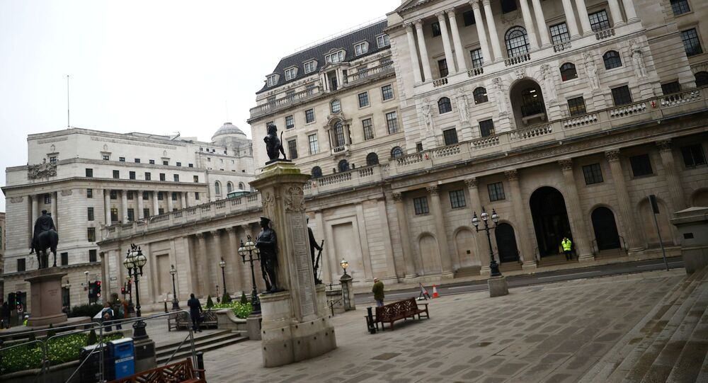 A general view of The Bank of England in London, Britain, March 19, 2020
