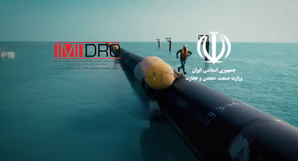 Screengrab from promotional clip for Iran's ambitious new water desalination and pipeline project.