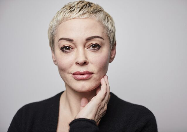 In this Friday, 3 January 2020 photo, Rose McGowan poses for a portrait in New York