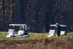 President Donald Trump participates in a round of golf at the Trump National Golf Course on Saturday, Nov. 7, 2020, in Sterling, Va