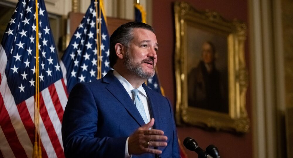 U.S. Senator Ted Cruz (R-TX) speaks during a news conference after U.S. President Donald Trump's Supreme Court nominee, Judge Amy Coney Barrett, was confirmed by the Senate as the latest Supreme Court Justice on Capitol Hill, in Washington, U.S., October 26, 2020